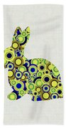 Bunny - Animal Art Beach Towel by Anastasiya Malakhova