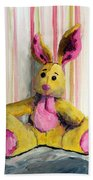 Bunny With Pink Ears Beach Towel