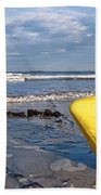 Buoy At Low Tide Beach Towel