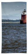 Buoy What A Lighthouse Beach Towel