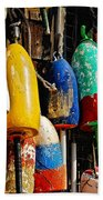 Buoys From Russell's Lobsters Beach Towel