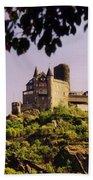 Burg Katze Castle On The Rhine Beach Towel