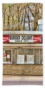 Burger Delight Beach Towel by Scott Pellegrin