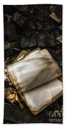 Burning Books Beach Towel