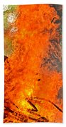 Burning Brush Beach Towel
