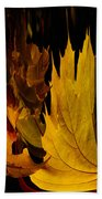Burning Fall Beach Towel