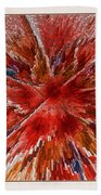 Burning Passion Of Love Beach Towel by Deborah Benoit