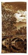 Burnside Bridge At Antietam - Toned Beach Towel