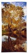 Burnside Bridge At Autumn Sunset Beach Towel