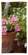 Bursting With Blooms Beach Towel