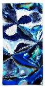Bursts Of Blue And White - Abstract Art Beach Towel by Carol Groenen