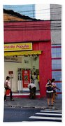 Bus Stop On Rua Teodoro Sampaio Beach Towel