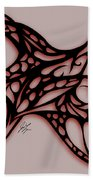 Bushal Of Thorns-inverted Shadow Beach Towel