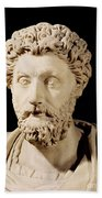 Bust Of Marcus Aurelius Beach Towel