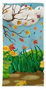 Buster And The Tree Beach Towel