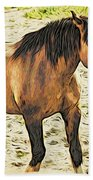 Buster Bronc Beach Towel