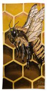 Busy As A Bee Beach Towel