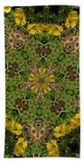 Buttercup Kaleidoscope Beach Towel