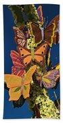 Butterflies On A 2015 Rose Parade Float 15rp047 Beach Towel