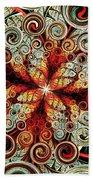 Butterfly And Bubbles Beach Towel by Anastasiya Malakhova