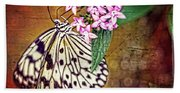 Butterfly Art - Hanging On - By Sharon Cummings Beach Sheet