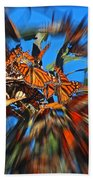 Butterfly Blast Beach Towel