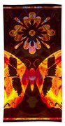 Butterfly By Design Abstract Symbols Artwork Beach Towel