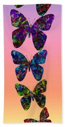 Butterfly Collage IIII Beach Towel