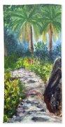 Butterfly Garden At Gumbo Limbo Beach Towel