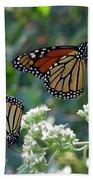 Butterfly Garden - Monarchs 01 Beach Towel