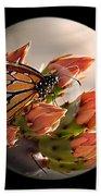 Butterfly In A Globe Beach Towel
