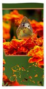 Butterfly In A Sea Of Orange Floral 02 Beach Towel