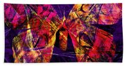 Butterfly In Abstract Dsc2977 Square Beach Towel