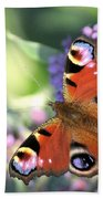 Butterfly On Buddleia Beach Towel
