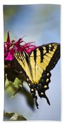 Butterfly Out Of The Blue - Blue Butterfly Art Beach Towel
