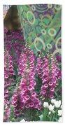 Butterfly Park Flowers Painted Wall Las Vegas Beach Towel