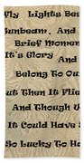 Butterfly Poem Beach Towel