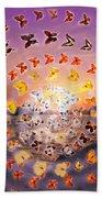 Butterfly Sunset Beach Towel