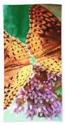 Butterfly Twins Beach Towel