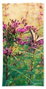 Butterfly Wildflower Beach Towel