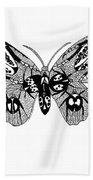 Butterfly With Design Beach Towel