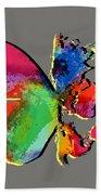 Butterfly World Map 2 Beach Towel
