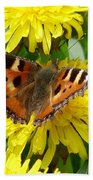 Butterfly Yellow Beach Towel