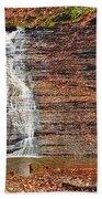 Buttermilk Waterfall Beach Towel by Marcia Colelli