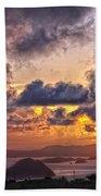 Bvi Sunset   Beach Towel