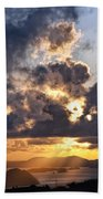 Bvi Sunset  Beach Towel
