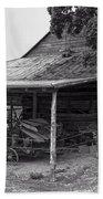 bw Antique Barn Beach Towel