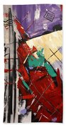 By The Blood Of Jesus Beach Towel