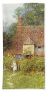 By The Cottage Gate Wc On Paper Beach Towel