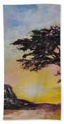 By The Golden Sea Beach Towel